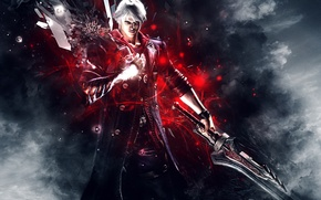 Picture Abstract, DMC 4, Capcom, Nero, Background, Devil May Cry 4, DmC, Sword, Video Game, Hideki …