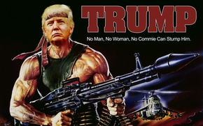 Wallpaper weapons, helicopters, USA, President, Rambo, Rambo, Donald John Trump, Donald Trump