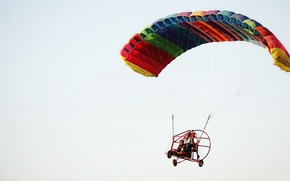 Picture The SKY, FLIGHT, SCREW, ENGINE, WING, GLIDER, PARACHUTE