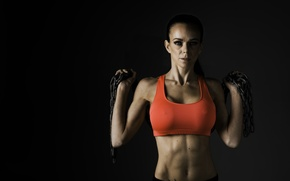 Wallpaper photography, look, female, fitness, chains, sportswear