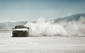 Wallpaper drift, dust, skid, desert, BMW
