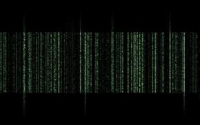 Picture code, matrix, matrix, black background, cipher