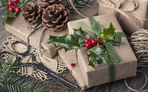 Picture winter, holiday, gift, Christmas, New year, Happy New Year, box, winter, Merry Christmas, gift, holiday
