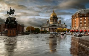 Picture autumn, rain, overcast, Peter, St Petersburg