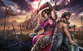 Picture weapons, the game, swords, warriors, game wallpapers, Soulcalibur: Lost Swords