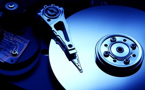 Picture HDD, read head, Hard drive, magnetic disks