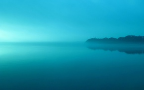 Picture the sky, water, fog, lake, earth, drying