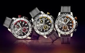 Picture red, yellow, orange, three, watches, Jack Pierre