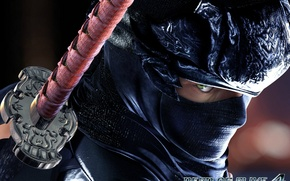 Picture katana, mask, ninja, killer, mercenary, Ryu Hayabusa, Dead or Alive