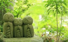 Picture Japan, temple, Japan, statues, Jizo statues, Kamakura, Hase-dera Temple, Kamakura, Jizo
