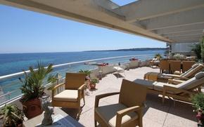 Picture design, house, style, Villa, interior, balcony, terrace, living space