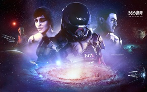 Picture galaxy, Mass effect, asari, andromeda, Ryder, tempest