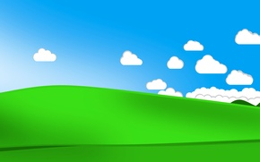 Wallpaper the sky, grass, clouds, hills