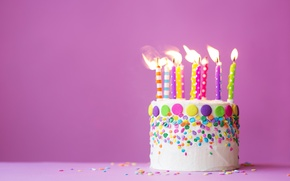 Wallpaper cake, Happy, candles, cake, Birthday, sweet, decoration, Birthday