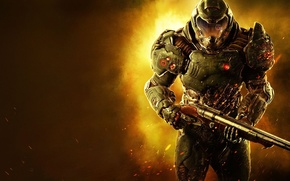 Picture look, weapons, soldiers, armor, bleed, wounds, Bethesda, DooM, id Software