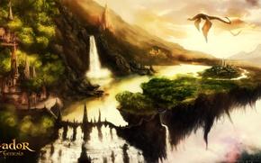 Picture city, dragon, eador