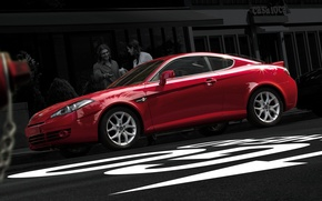 Picture red, coupe, hyundai