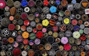 Picture color, texture, Botons