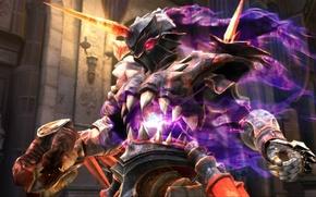 Picture magic, glow, armor, the demon, fangs, Soul Calibur 4, horn