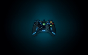 Picture style, neon, button, xbox, the throne, tron, gamepad