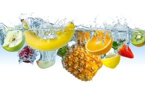 Picture water, berry, fruit