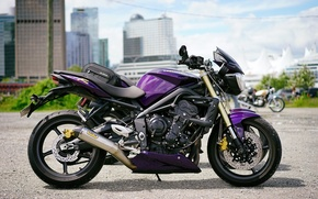 Picture style, motorcycle, bike, Triumph