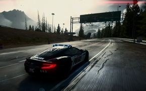 Picture car, need for speed, aston martin, cop, video game, vanquish, rivals