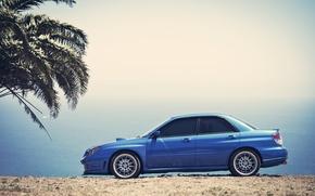 Picture the sky, Palma, Subaru, Impreza, blue, blue, Subaru, Impreza
