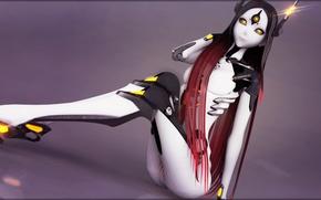 Picture girl, robot, vocaloid, long hair, Vocaloid, tri-oxygen luka