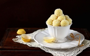 Picture food, coconut, candy, Cup, still life, dessert, cup, still life, dessert, candy, coconut, coconut balls, …