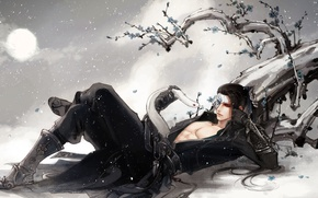 Picture snake, anime, art, guy, Salome