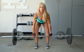 Picture blonde, fitness, crossfit, weight lifting