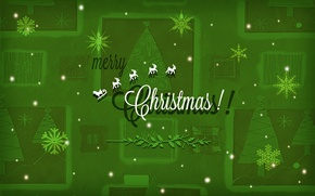 Wallpaper snowflakes, tree, Merry Christmas