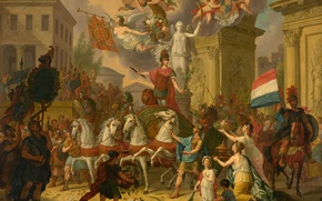 Picture picture, history, Allegory Of The Triumph Of The Prince Of Orange, Cornelis van Cuylenburg II
