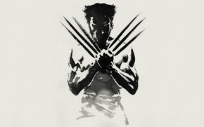 Picture look, pose, figure, minimalism, art, claws, Wolverine, minimalism, muscle, art, drawing, Logan, X-men, X-Men