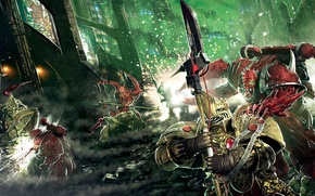 Wallpaper Horus Heresy, demons, Warhammer 40k, The first heretic, custodians, Aaron Dembski-Bowden