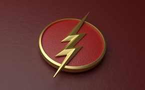 Picture red, logo, lightning, symbol, comics, serial, television, The Flash, 1 season