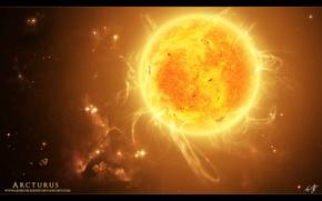 Wallpaper the sun, star, space