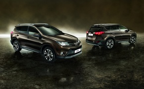 Picture background, Toyota, Toyota, crossover, RAV4