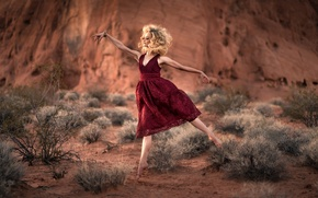 Picture girl, mood, dance, dress