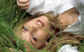 Picture Girl, Grass, Look