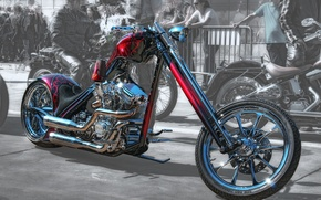 Picture design, HDR, motorcycle, form, bike, chopper
