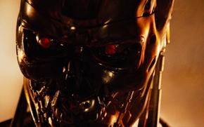 Picture steel, robot, terminator, cyborg, terminator, 1984