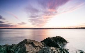 Picture nature, beautiful, sunrise, nature, beautiful, sunrise, Rhode Island, mount hope bay, rhode island