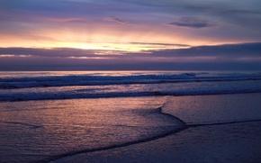 Wallpaper sea, clouds, Wave