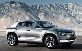 Wallpaper mountains, silver, concept, volkswagen, the concept, the front, Volkswagen, the cross coupe, cross coupe