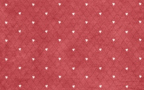 Wallpaper diamonds, hearts, white, fabric, red background
