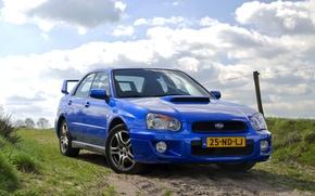 Picture Subaru, Impreza, WRX, blue