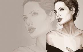 Picture figure, vector, Angelina Jolie