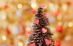Picture holiday, heart, tree